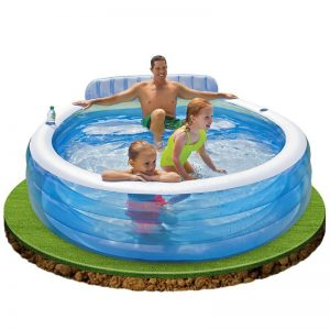 Piscina gonflabila Intex Swim Center 57190NP 224 x 216 x 76 cm-703