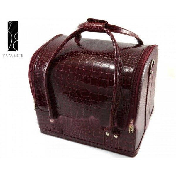Geanta pentru make-up Burgundy Beauty Case-0