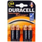Baterii alcaline Duracell AA, 4 piese-0
